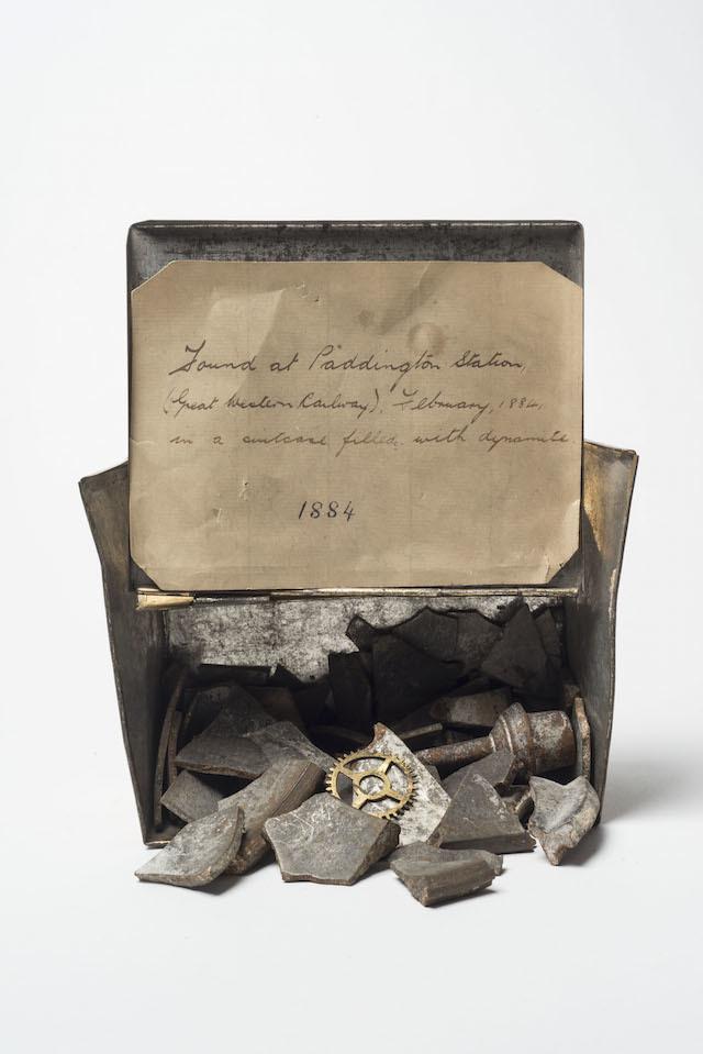 Shrapnel from an unexploded Fenian bomb found at Paddington Station 1884