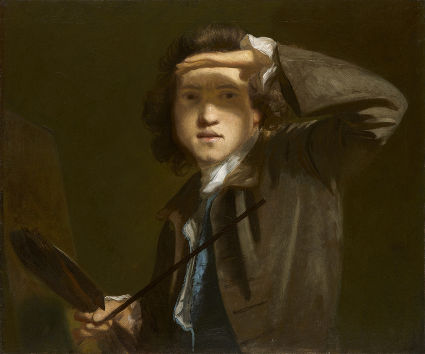 This rare self-portrait was started again, possibly because Reynolds was not happy with the shading in the first iteration. © National Portrait Gallery, London