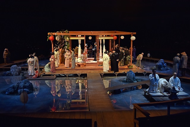 David Roger's evocative set for Madam Butterfly. Picture by Paul Sanders.