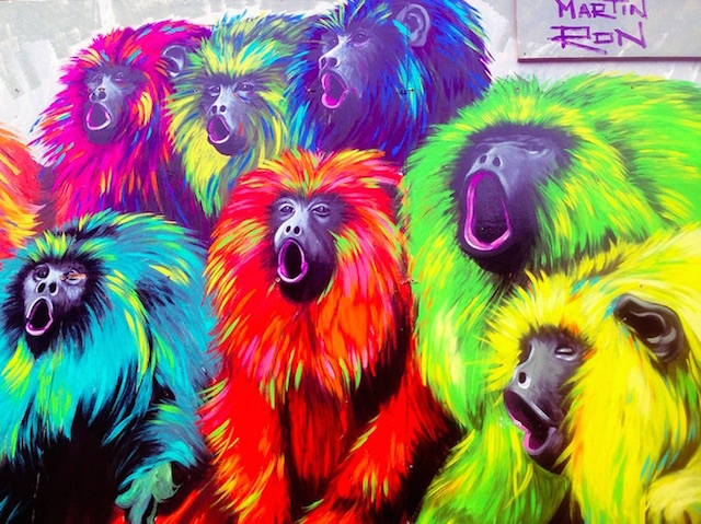 Howler monkeys by Martin Ron in Spitalfields. Photo: Theodora Evripidou (2014)