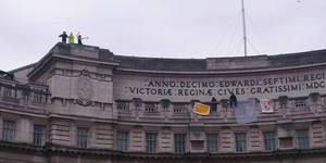 Housing Protestors And Anarchist Squatters Occupy Admiralty Arch