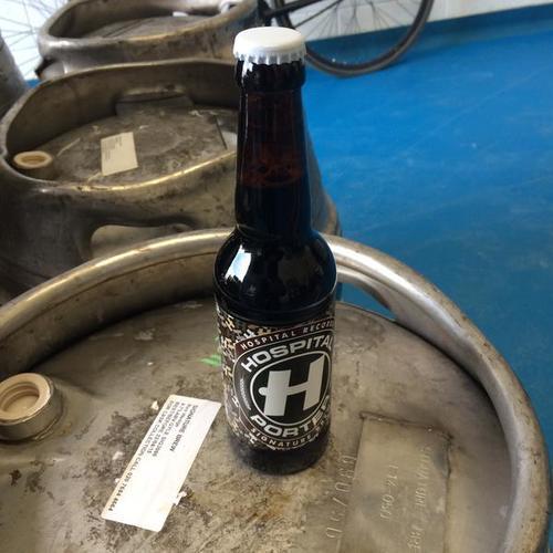 Bottled beer on keg: not something you see often.