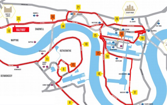 Unusual Things To Look Out For On The London Marathon Route - London marathon map