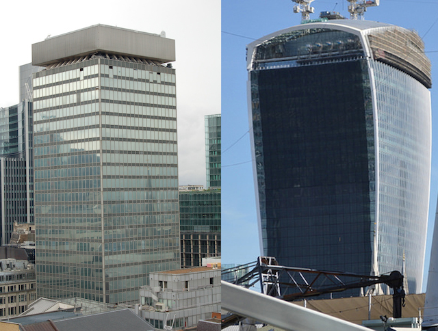 20 Fenchurch Street Old Left And New Right Pic By Artybrad Under Creative Commons Licence M