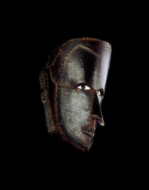 A fearsome turtleshell mask made by Torres Strait islanders. © The Trustees of the British Museum