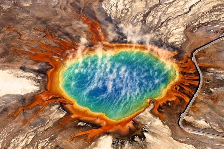Yellowstone National Park's Grand Prismatic Spring always makes for a good image. Copyright Jassen Todorov.