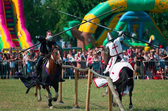 Jousting at Lambeth Country Show in Brockwell Park. Photo: Andrew Smith (2013)