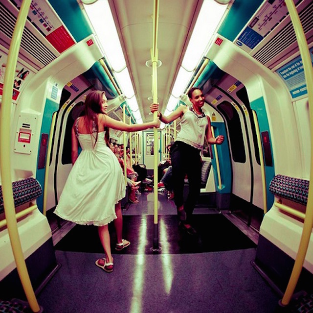 Ever tried maypole dancing on the tube? Photo: Andy Teo (2011)