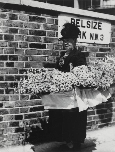 A flower seller outside Belsize Park in 1931. Photo: Bill Brandt.