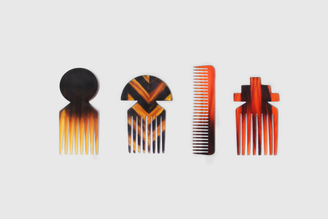 These combs are made using actual human hair. © Studio Swine
