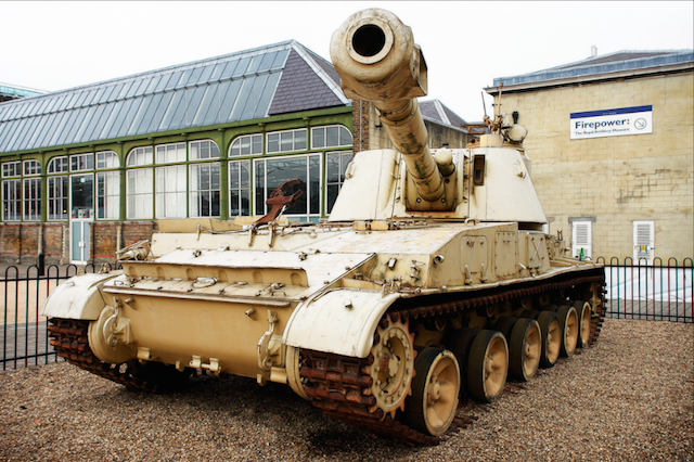 Soviet 2S3 'Akatsiya' Self Propelled Gun at Firepower: The Royal Artillery Museum. Photo by Compound Eye