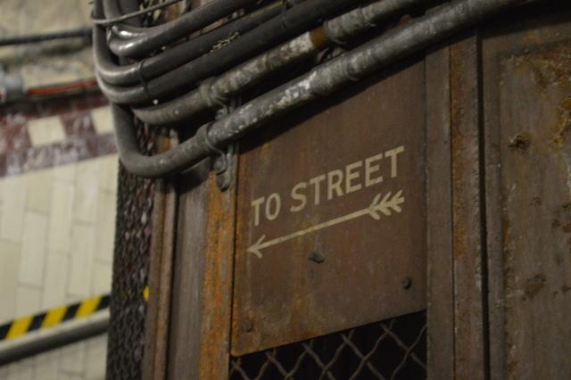 Old wartime signage.