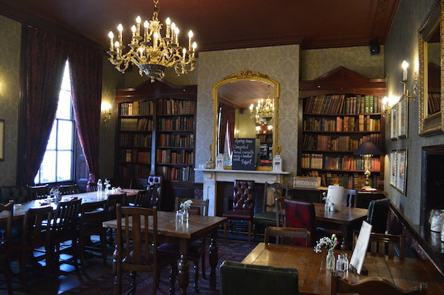 The upstairs library room.