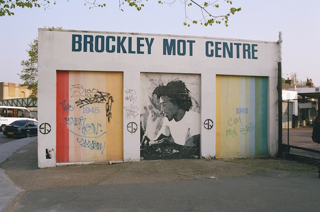The early Bob Marley mural, which was replaced in 2005 by community festival Brockley Max