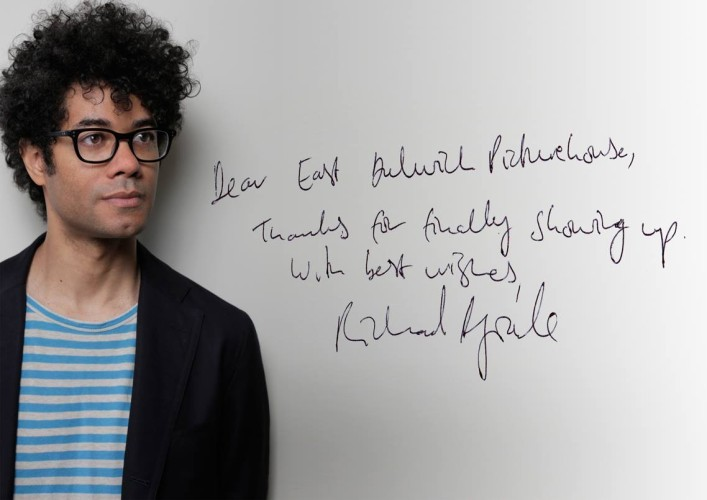 Richard Ayoade did finally show up to lend his support.
