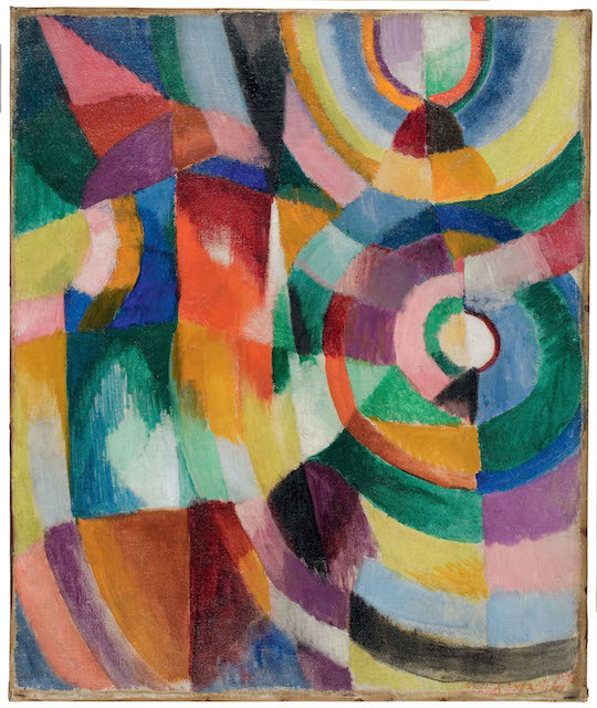 Sonia Delaunay, Electric Prisms 1913. Davis Museum at Wellesley College, Wellesley, MA, Gift of Mr. Theodore Racoosin © Pracusa 2014083