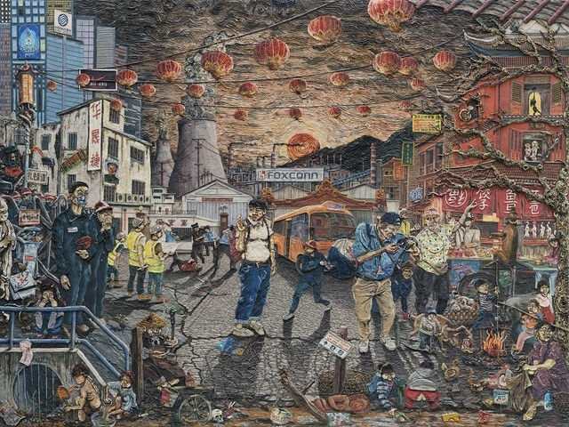 A grim view of China and its industrialisation. Copyright Henry Hudson