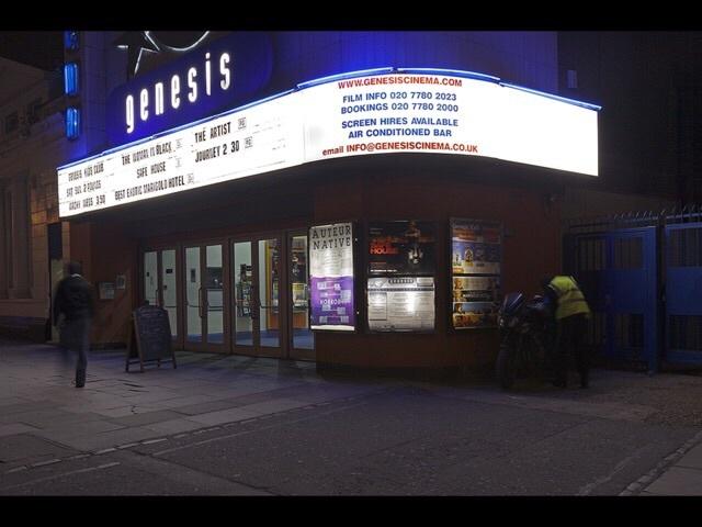 Genesis Cinema. Photo by Alex Pink from Londonist's Flickr pool