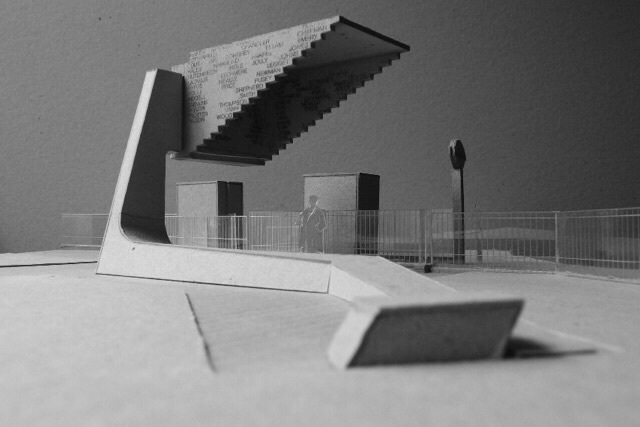 Visualisation of the completed Stairway to Heaven memorial. Image by Harry Paticas and Steve Whitten