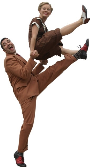 London Dance Society founder Simon Selman keeping his balance