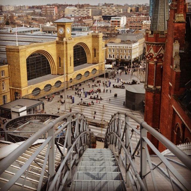 Up on the roof of St Pancras station
