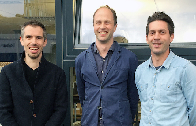 The brains behind the project. (L-R) James Lowe, Chris Romer-Lee, Matt Bamford-Bowes.