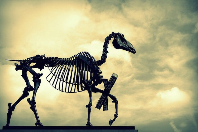 The Gift Horse sculpture by Hans Haacke on the Fourth Plith in Trafalgar Square. Photo: joephoto (2015)