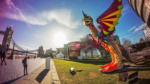 Mexican dragon near City Hall.  Photo: Ian Flinders (2015)