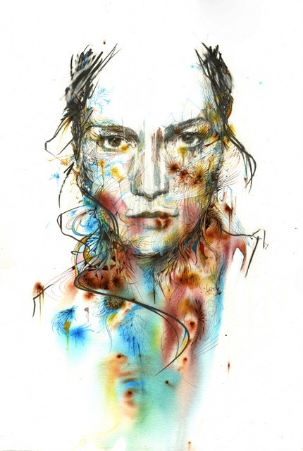 Another vibrant portrait by Carne Griffiths.