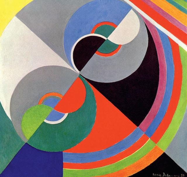Sonia Delaunay, Rhythm Colour no. 1076 1939. Centre National des Arts Plastiques/Fonds National d'Art Contemporain, Paris, on loan to Palais des Beaux-Arts de Lille © Pracusa 2014083