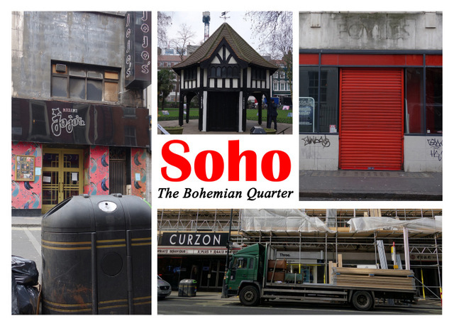 Particularly relevant as Soho is under threat of losing its cultural status. Copyright Gram Hilleard