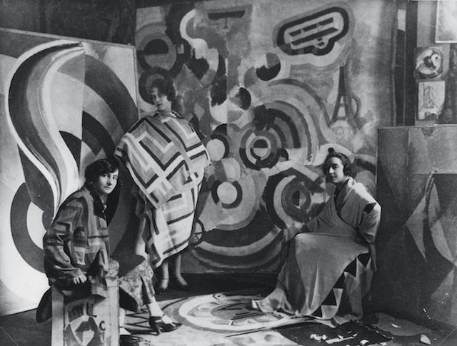 Sonia Delaunay and two friends in Robert Delaunay's studio, rue des Grands-Augustins, Paris 1924. Bibliothèque nationale de France, Paris