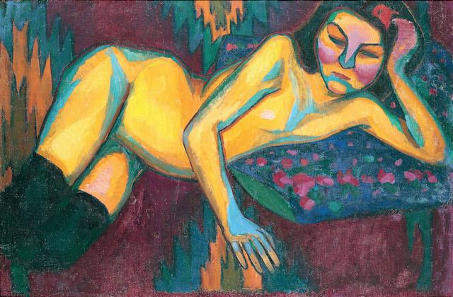Sonia Delaunay,Yellow Nude 1908. Musée des Beaux-Arts de Nantes, Nantes © Pracusa 2014083