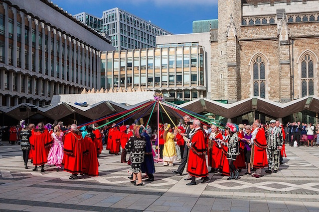 Maypole dancing at the Pearly Kings and Queens Harvest Festival at Guildhall. Photo: Zefrographica (2013)