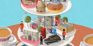 Slice Of St Paul's? London Depicted As Afternoon Tea