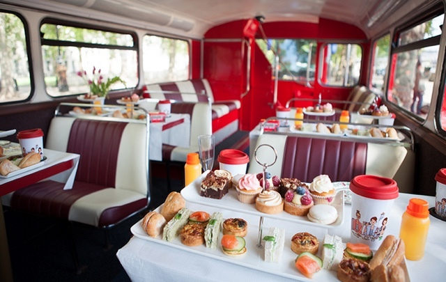 Tube Cocktails And Dinner On A Bus Transport Themed