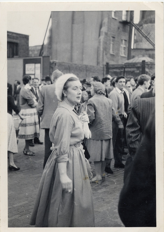 Jessie Simmons at demo c1960 - Courtesy John Simmons