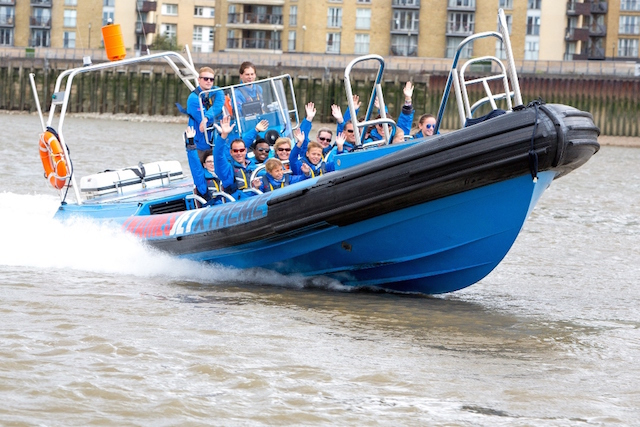 Kick the day off with a ride on City Cruises' Thamesjet