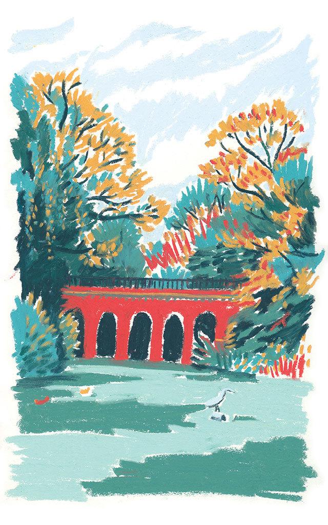 William Grill, The Viaduct Bridge Hampstead Heath