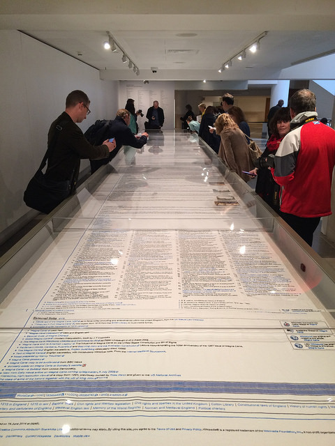 All 13 metres of Cornelia Parker's Magna Carta (An Embroidery).