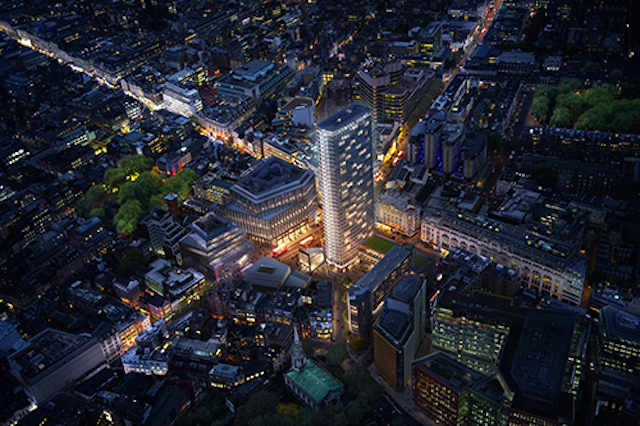 Centre Point Public Square/St Giles Circus - Camden (due for completion 2017). A large new south-facing public square will be created in the centre of this major rehaul.