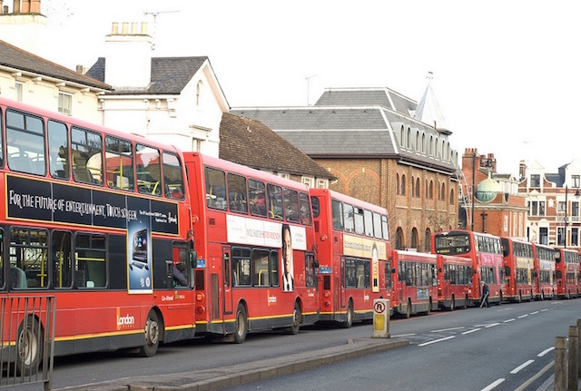 You wait ages for a bus in Putney Hill and then... Photo: Chris Guy (2009)