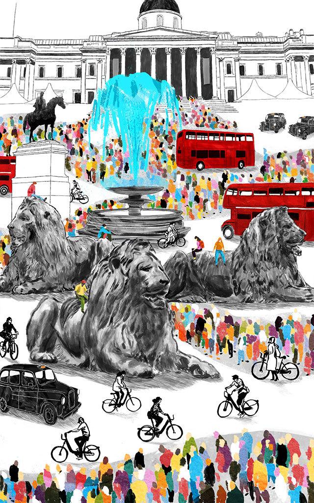 Ciaran Murphy, Trafalgar Square