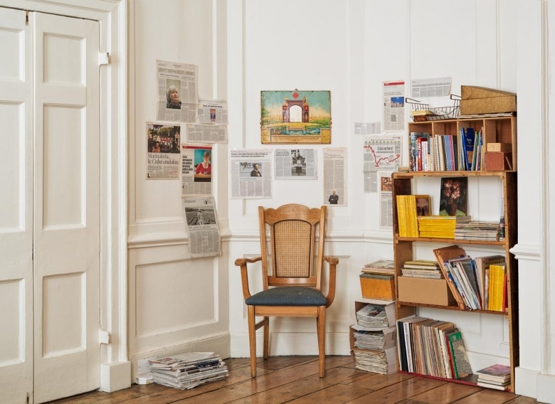 It's a hoarder's paradise with stacks of National Geographic on the shelf. © Copyright 2015 Frith Street Gallery