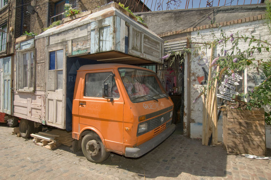 How many people can say they've stayed in a rustic camper van in Dalston?
