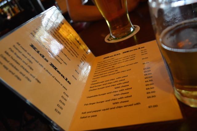 Ye olde menu.