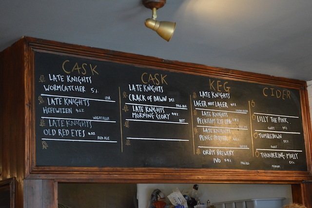 A tempting beer menu.