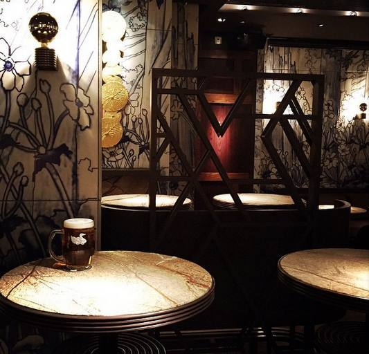 Shiny tables and intricate tiles