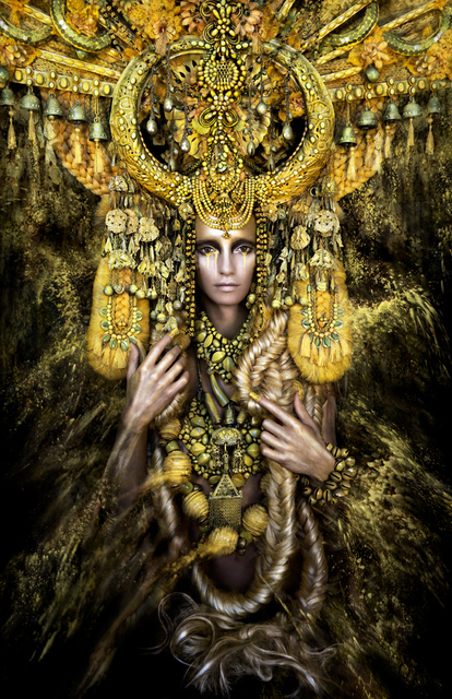 We're not sure you can get more gold into this image. Copyright Kirsty Mitchell