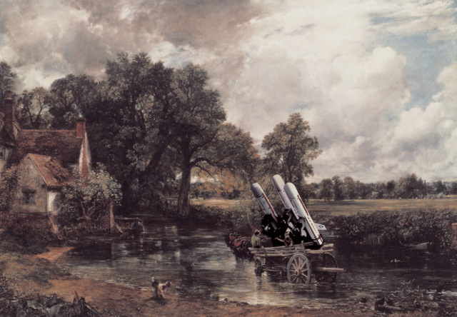 Constable's Haywain now carries missiles. Copyright Peter Kennard